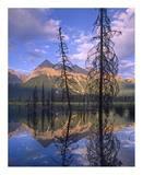 Chancellor Peak reflected in lake  Yoho National Park  BC  Canada