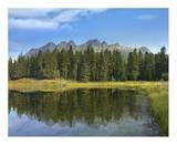 Yellowhead Mountain and Yellowhead Lake  Mount Robson Provinvial Park  British Columbia  Canada