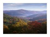 Autumn deciduous forest from the Blue Ridge Parkway  North Carolina
