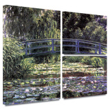 Bridge at Sea Rose Pond Gallery-Wrapped Canvas
