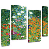 Farm Garden 4 piece gallery-wrapped canvas