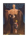 Lincoln Memorial  Man and Grandson