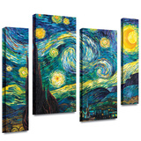 Starry Night 4 piece gallery-wrapped canvas