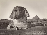Egyptian Men with Camel at Sphinx