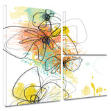 Orange Botanica Gallery-Wrapped Canvas