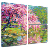 Blossoming Trees Gallery-Wrapped Canvas
