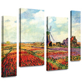 Windmill 4 piece gallery-wrapped canvas