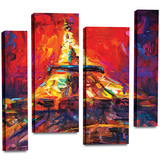 Eiffel Tower 4 piece gallery-wrapped canvas