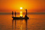 Fishing at Sunset in Gulf of Mexico