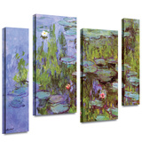 Sea Roses 4 piece gallery-wrapped canvas