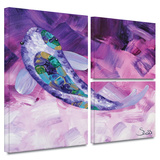 Purple Koi Gallery-Wrapped Canvas