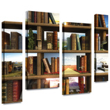Story World 4 piece gallery-wrapped canvas