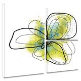 Citron Petals II Gallery-Wrapped Canvas