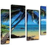 Beautiful Smini Beach 4 piece gallery-wrapped canvas