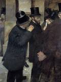 Portraits at the Stock Exchange or A La Bourse by Edgar Degas
