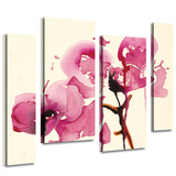 Orchids I 4 piece gallery-wrapped canvas