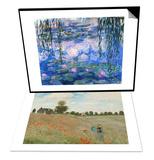 Poppy Field  Near Argenteuil  c1873 & Water Lilies (Nympheas)  c1916 Set