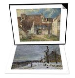 Snow in Veneux-Nadon  Around 1880 & Cour de ferme a Saint Mammes (Seine et Marne) Set
