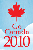Go Canada 2010 (Winter Olympics  Blue) Sports Poster Print
