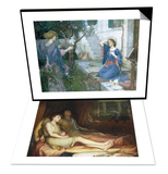 Sleep and His Half Brother Death & The Annunciation  c1914 Set