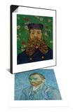 Self-Portrait  c1889 & Portrait of the Postman Joseph Roulin  c1889 Set
