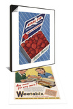 1940's Weetabix Advertisement & 1950's Birds Eye Frozen Strawberries Advertisement Set