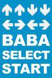Konami Code (Contra  Blue) Video Game Poster Print