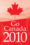 Go Canada 2010 (Winter Olympics  Red) Sports Poster Print