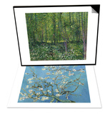 Almond Branches in Bloom  San Remy  c1890 & Trees and Undergrowth  c1887 Set