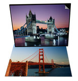 Golden Gate Bridge  San Francisco  California  USA & Tower Bridge  London  England  UK Set