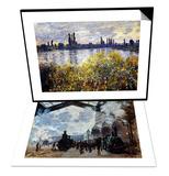 Monet: Gare St-Lazare  1877 & Monet: Seine/Vetheil  1880 Set