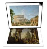 Alexandre le Grand devant le tombeau d'Achille & The Colosseum  Rome Set