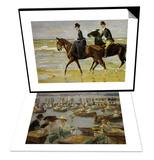 On the Shores of the Alster  Hamburg  1910 & Riders on the Beach  1903 Set
