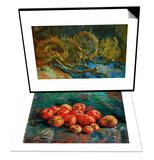 Apples & Four Cut Sunflowers  c1887 Set