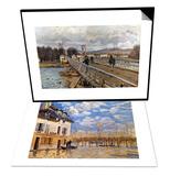 Sisley: Flood  1876 & Sisley: Foot-Bridge  1872 Set