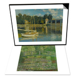 Waterlily Pond  Green Harmony  1899 & The Bridge at Argenteuil  1874 Set