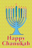 Happy Chanukah (Menorah) Art Poster Print