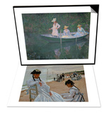 On the Beach at Trouville  1870-71 & The Boat at Giverny  The Three Daughters of Mme Hoschede Set