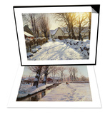 A Wooded Winter Landscape  Brondbyvester & First Snow Set