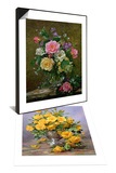 Bright Smile - Roses in a Silver Vase & Roses in a Glass Vase Set