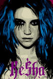 Ke$ha Kesha Face Picture Blue Music Poster Print