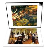 Degas: Cotton Office  1873 & Degas: Four Dancers  C1899 Set