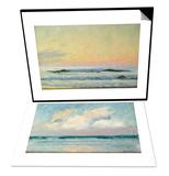 Sea Study - Morning (Oil on Panel) & Sea Study - Evening (Oil on Panel) Set