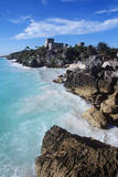 Mexico  Yucatan Peninsula  Carribean Sea at Tulum  the Only Mayan Ruin by Sea