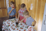 Children Eating Jelly Sandwiches