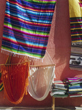 Hammocks and Serapes on Display in Market