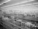 Interior View of Supermarket  1955