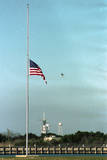 Space Center Lowering Flag