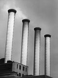 Smokestacks at Power Plant