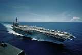 Aircraft Carrier USS Constellation at Sea